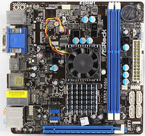 Asrock E350M1 Mainboard Sockel AMD E-350 A50M DDR3 Speicher Micro ATX, BULKWARE