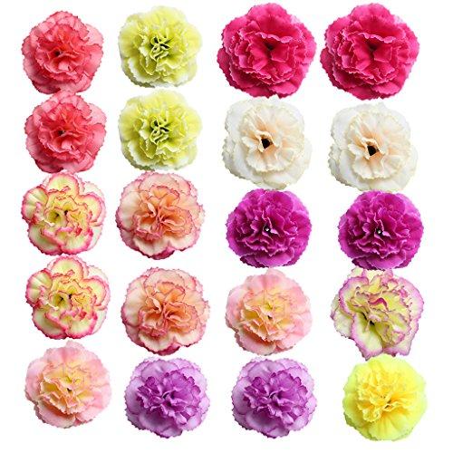 unstblumen Blume Köpfe Künstliche Deko Blüten Blumendekoration für Haus Garten Party Blumenschmuck - azalee gemischt ()