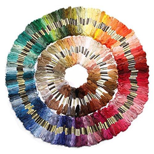 Zedtom 250 Döckchen von 8 M 6 Fäden Cross Stitch Weich Baumwolle Stickerei DIY Kreuz