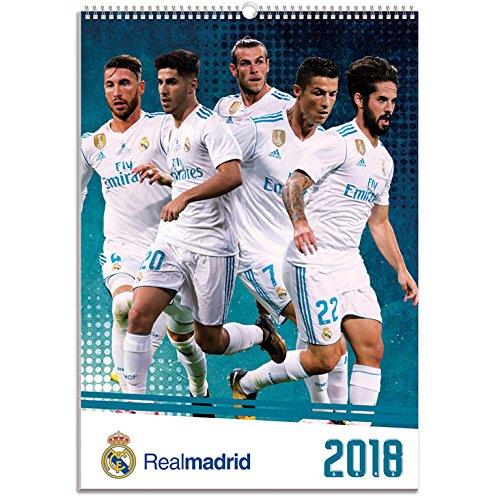 Grupo Erik Editores CPA318004 - Calendario 2018 con diseño Real Madrid, 29.7 x 42 cm