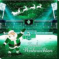 Werder Bremen Premium Schoko-Adventskalender, Weihnachtskalender (200g), mit 25 großen Schoko-Talern mit einem tollen Vereinsposter und GRATIS Aufkleber