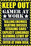 1art1 42427 Gaming - Keep Out, Gamer At Work Poster 91 x 61 cm