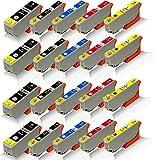 20x kompatible Tintenpatronen für Epson Expression Premium XP-510 XP-520 XP-600 XP-605 XP-610 XP-615 XP-620 T2621 T2631 T2632 T2633 T2634 Black Photoblack Cyan Magenta Yellow - Office Line Serie