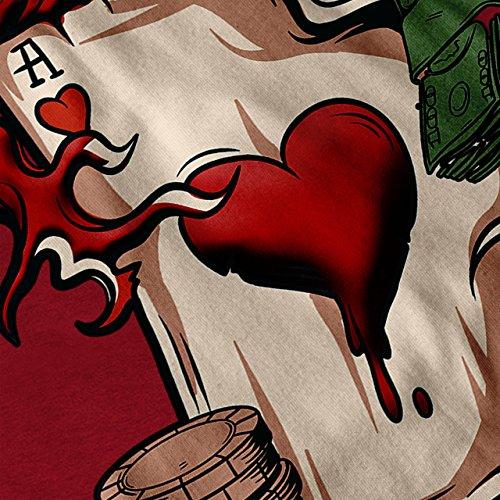 As Wette Karte Tafel Kasino Karte Spiel Damen S-2XL Muskelshirt | Wellcoda Rot