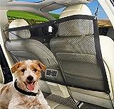 LOHUA Hunde Rücksitz Barriere Pet Sicherheit Netz Barrier, Auto Sicherheitsnetz Trennnetz zwischen Haustier & Autofahrer Schutznetz für sicher und angenehm Reise
