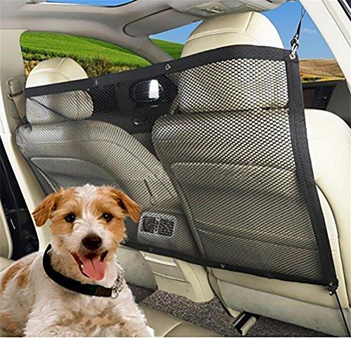 LAMEI Hunde Rücksitz Barriere Pet Sicherheit Netz Barrier, Auto Sicherheitsnetz Trennnetz zwischen Haustier & Autofahrer Schutznetz für sicher und angenehm Reise -