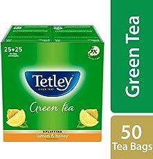 Tetley Green Tea Bags, Lemon and Honey (50 Tea Bags)