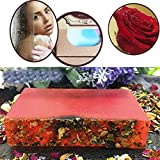 Handmade Soap, Hunpta Essential Oil Wash Bath Rose Handmade Soap Bleaching Whitening Skin Body Care (Red)