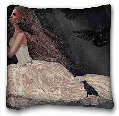 Pillow-top-king-size-matratze (Custom Baumwolle & Polyester Weich (Tiere Bird FALCON) Reißverschluss Körper Kissen Schutzhülle Größe 40,6x 40,6cm geeignet für full-bed pc-purple-3697, baumwolle, Muster 9, European)
