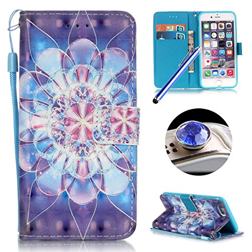 iPhone 6 Plus Custodia in Pelle,iPhone 6S Plus Cover Portafoglio,Etsue Lusso/Retro/Elegante Style Disegni Artificiale Leather PU Flip/Wallet/Libro Bookstyle Con Chiusura Magnetica/Card Slot/Supporto d &31