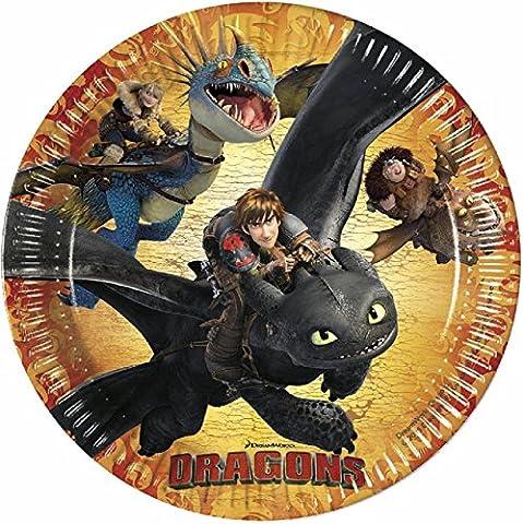 Dragons - Party Anniversaire Plaque de Papier 8 Pièces 23
