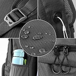 Cobiz Ultralight Packable Camping Zaino Escursionismo Daypack, Water Resistant 30L Pack Handy Pieghevole Laptop Travel Outdoor Zaino per Donna Uomo Bambini