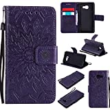 For Samsung Galaxy A3 2016 Case [Purple],Cozy Hut [Wallet Case] Magnetic Flip Book Style Cover Case ,High Quality Classic New design Sunflower Pattern Design Premium PU Leather Folding Wallet Case With [Lanyard Strap] and [Credit Card Slots] Stand Function Folio Protective Holder Perfect Fit For Samsung Galaxy A3 (2016) SM- A310F 4.7 inch - purple