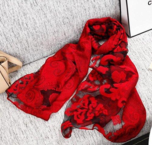 Sucastle DamenStola Schal für Seide 180*70cm