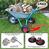 Stabilizzatori per carriola | Garden–Kit adattatori per carriola ruota x 2| kit di montaggio con adattatore