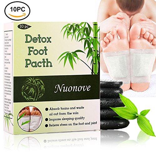 Detox Fußpflaster, Detox Vitalpflaster, Fusspflaster zur Entgiftung   Qualitativ hochwertig und gut verträglich, Bambus Pflaster Wellness- Detox-Pflaster zieht die Toxine Spa (10PC)