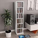 vidaXL Estantería para CDs Aglomerado Mobiliario Organizador Colección Música Elegante Práctica Moderna Duradera Resistente R