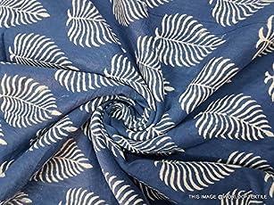 Worldoftextile Cotton Hand Block Printed Dress Material (EBPF122D1_Multicolour_5 m)