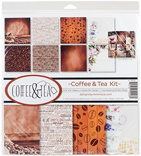 Unbekannt Erinnerung cof-200 Coffee & Tea Scrapbook Collection Kit Flower Sugar Collection