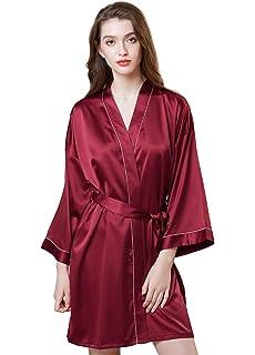Kimono Accappatoio Donne Waffle Robe Altezza Ginocchio Spa Soft Knit V-Neck Accappatoio con Tasche Mogao Caves Donne Robe Leggero
