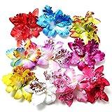 10 Stck Mehrfarbig Frau Mädchen Orchidee Blume Leopard Haar Clip Hochzeit Party Strand Braut Haarklammer Haar Stifte Haar Haarspange Zubehör