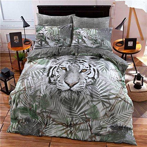 Linensrange Tiger Multi Gedruckt Quilt Bettbezug Bettwäsche Set mit Kissen S/D/K/S.K (König) (König Bettbezug Bettwäsche-set)