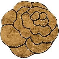 Tappeto a forma di fiore per la casa (disponibile in 3 colori) (80cm x 80cm) (Marrone)