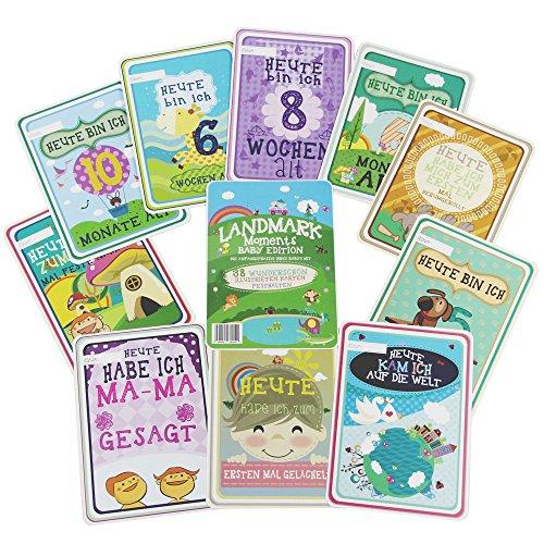 Landmark Moments Meilenstein Momente Baby Karten - 38 illustrierte Karten - Perfekt als Baby Shower Geschenk und Neugeborenen Geschenk, für die einzigartigen Momente im 1. Lebensjahr