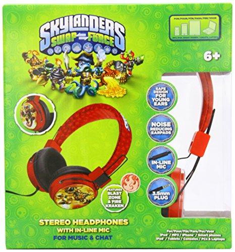 Price comparison product image Skylander Swapforce Blast Zone Junior Headphones Red