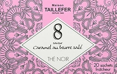 Maison Taillefer Thé Noir Caramel en Sachet Individuel Boîte de 20 Sachets - Lot de 5