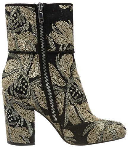 Steve Madden Goldie Ankleboot, Bottines Femme Multicolour (Gold Sequins (Blk/Gold))