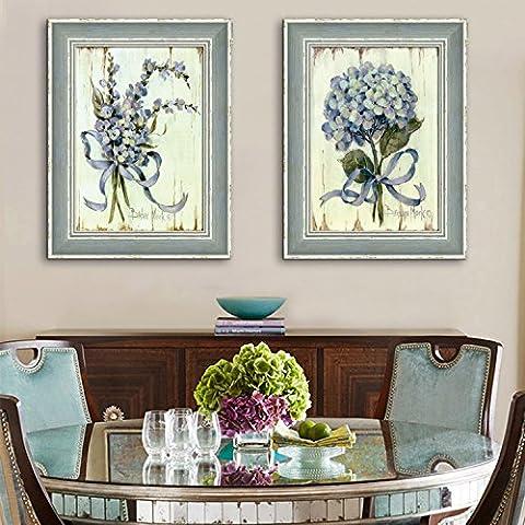 Modylee Ramo de flores con marco encerado Videos decorativos pinturas salón dormitorio PCS1 Cuadro en Lienzo ,