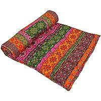 A mano meditazione indiana Yoga Mat attenuato cotone stampato progettazione reversibile accessori (Reversibile Mat)