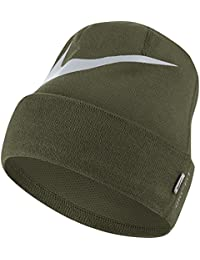 Nike Swosh Cuffed Olive Canvas/Pure Platinum Bonnet pour Homme Taille Unique