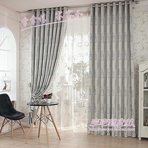 Preisvergleich Produktbild HZH-Hzh - Das Wohnzimmer Schlafzimmer Fenster und Vorhänge (2 pcs), 2,4 Breite X2.7 Höhe, B