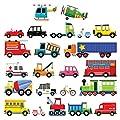 DECOWALL 27 Transporte Autos Fahrzeuge Wandtattoo Wandsticker Wandaufkleber Wanddeko für Wohnzimmer Schlafzimmer Kinderzimmer(1205 1605 8004) von DECOWALL - TapetenShop