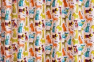 Rideau voilage pour chambre d'enfant motif chien kindergardine lot de 200 cm