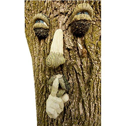 Ardisle-Baum-Gesichts-Garten-Verzierung Skulptur-Statue-Baum-Dekoration-Schnurrbart-Kunst