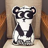 BAONZEN Divertido Almohada para Dormir cojín de Peluche Lindo Juguete muñeca niña muñeca sofá 3D Perro Tira Almohada, Panda, 50 cm