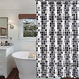 Duschvorhang 200x220 cm (BxH), Rosa Schleife Anti-Schimmel Anti-Bakteriell Wasserabweisender Duschvorhangs Shower Curtains Liner weichem Polyestergewebe Bath Curtains Vorhang aus Schöne Muster für Badezimmer WC