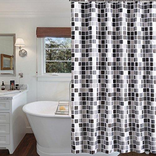 Duschvorhang 200x200 cm (BxH), Rosa Schleife Anti-Schimmel Anti-Bakteriell Wasserabweisender Duschvorhangs Shower Curtains Liner weichem Polyestergewebe Bath Curtains Vorhang für Badezimmer WC