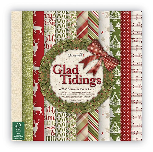 glad-tidings-designer-paper-pack-6-x-6-inches-by-dovecraft-essentials