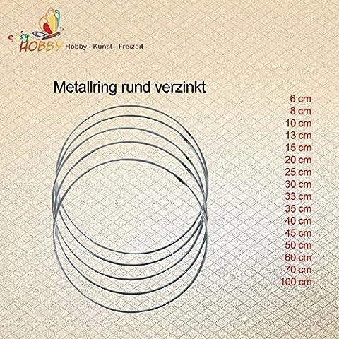 Metallring rund verzinkt (60 cm), 3 Stück