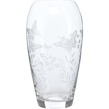 Debenhams Home Collection Butterfly Etched Vase Home Collection