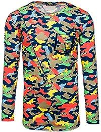BOLF Herren Longsleeve Langarmshirt Sweatshirt Pulli Pullover Camo Mix 1A1 Motiv