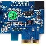 dodocool 2 puertos PCI-E Express Tarjeta USB 3.0 Controlador Hub Adaptador Tarjeta interna 20 Pin 4 Pin IDE VLI chipset capacitores sólidos