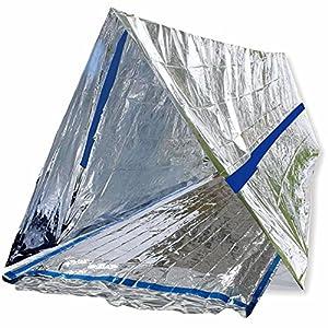 61YoV0vqgiL. SS300  - BlizeTec Emergency Bivy Sack Mylar Thermal Survival Blanket and Tube Tent with Mini Carry Bag