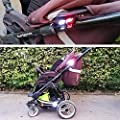 Collory Mini LED Silikon-Leuchten Set inkl. Batterien | Kinderwagen-Beleuchtung | Wasserfeste Sicherheitsleuchten | Tretroller-Licht | Kinder Laufrad Lampen | Einfache Montage ohne Werkzeug | Schwarz