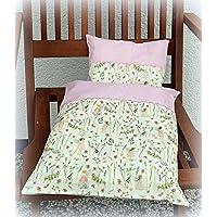 Bettwäsche, Puppenbettwäsche für Wiege-Puppenwagen-Puppenbett Puppenzubehör Babypuppe Puppen, Puppenbettwäsche, Decke und Kissen für den Puppenwagen, das Puppenbett, 2-teiliges Set