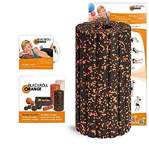 Blackroll Orange Groove STANDARD (Das Original) Selbstmassagerolle – inkl. Übungs-DVD, -Poster und -Booklet